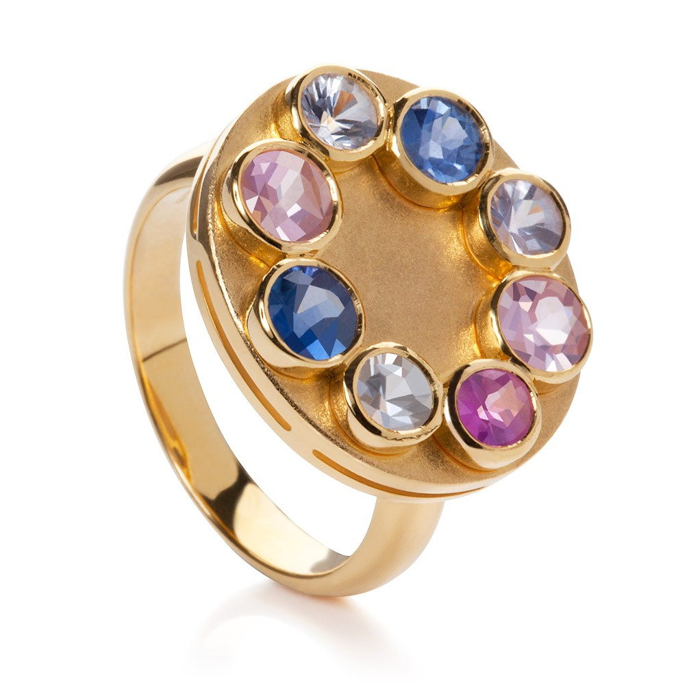 Wish Ring – Fancy Sapphires 18k Gold