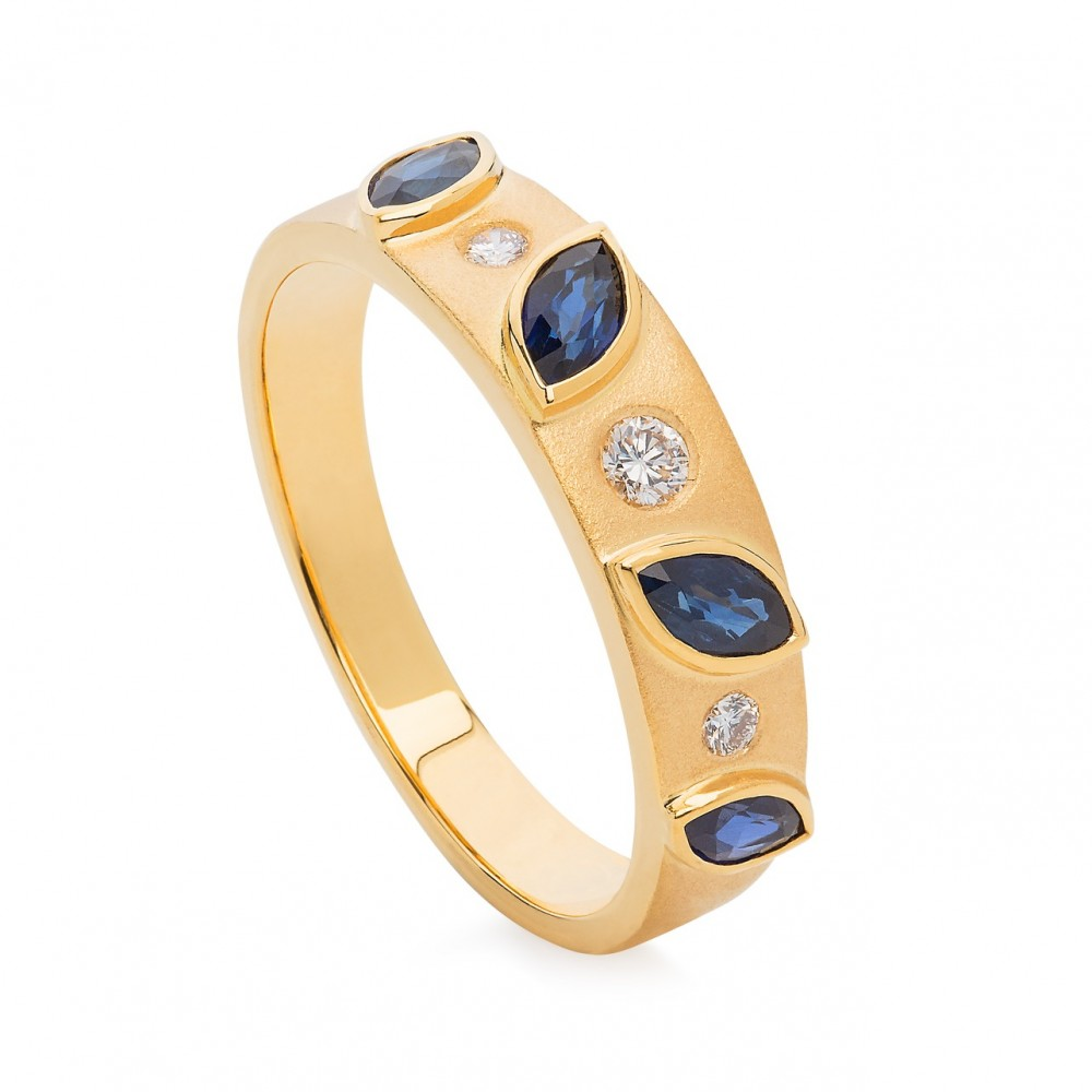 Ring – Sapphires And Diamonds 18k Gold
