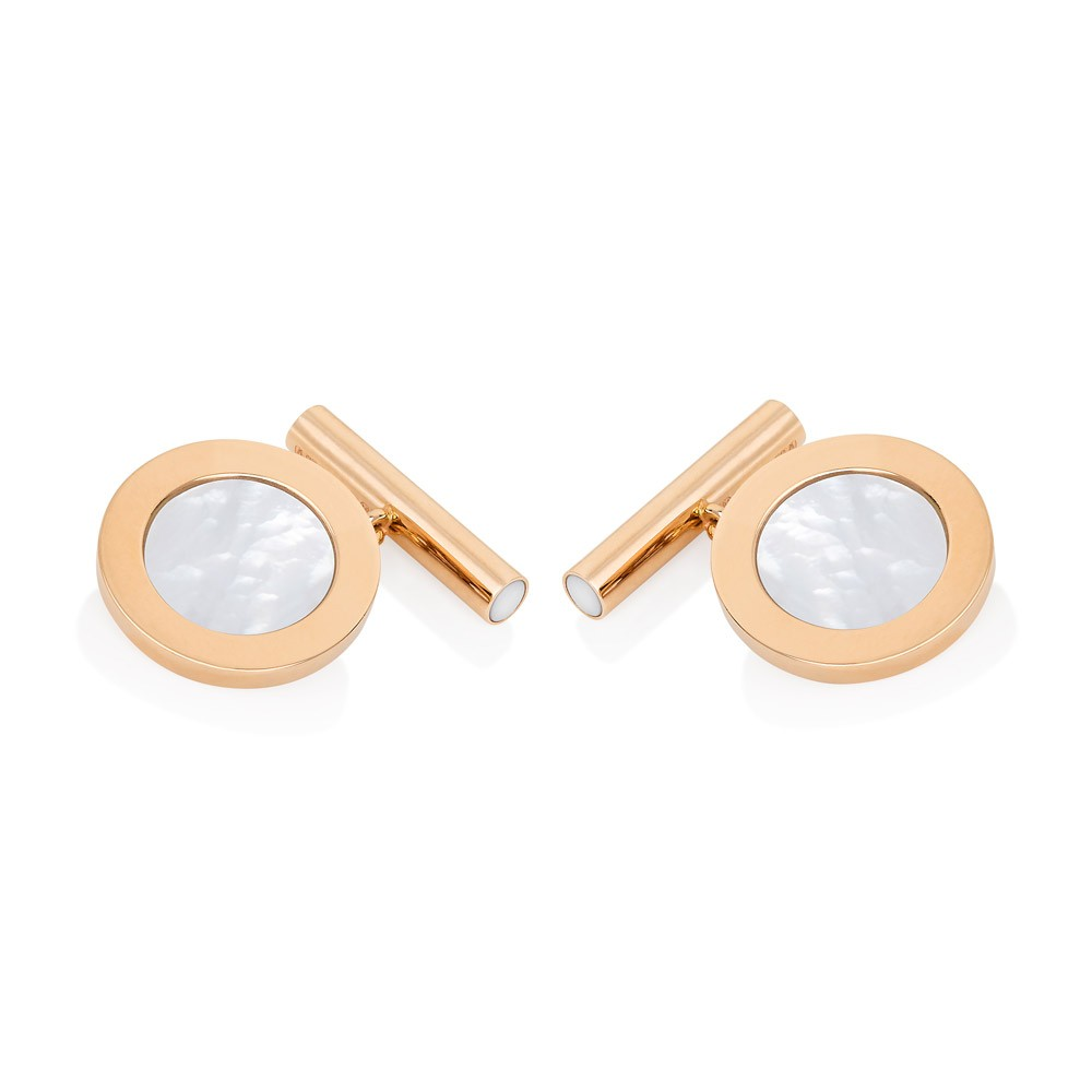 Cufflinks – Mother-of-pearl 18k Rose Gold