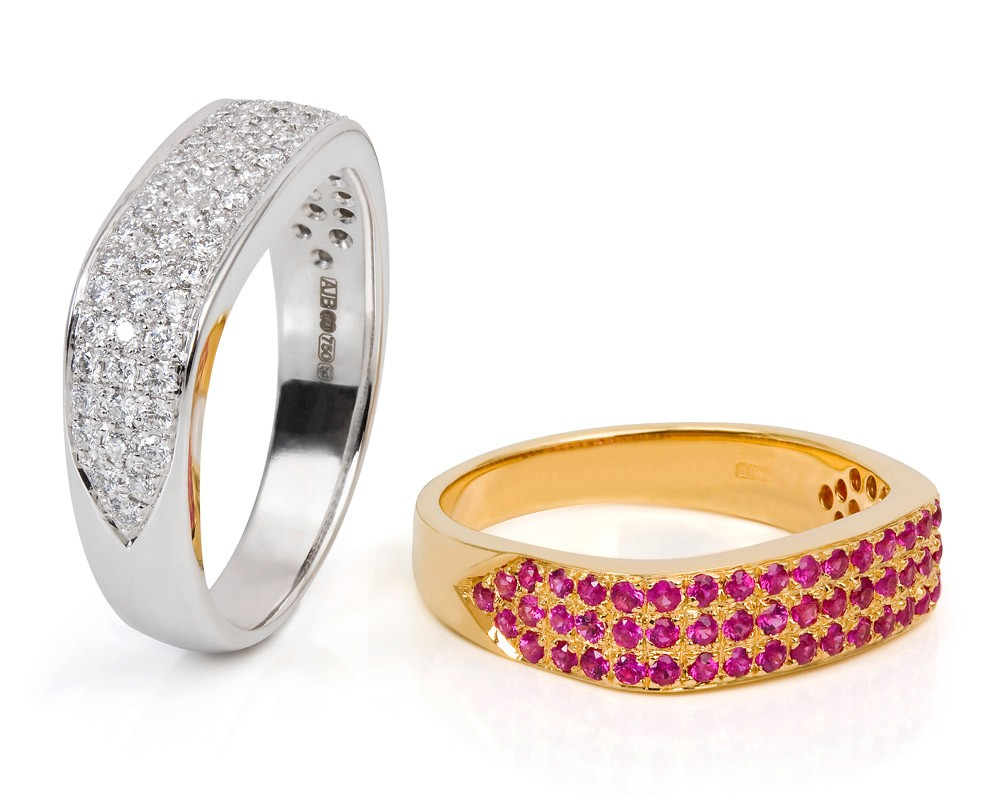 Dream Rings – Hot Pink Sapphires Or Diamonds 18k Gold