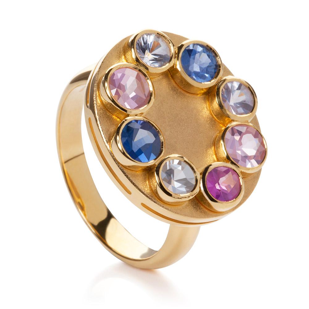 Wish Ring – Fancy Sapphires 18k Gold